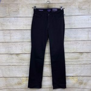 NYDJ Marilyn Straight Leg Stretchy Black Jeans 6P